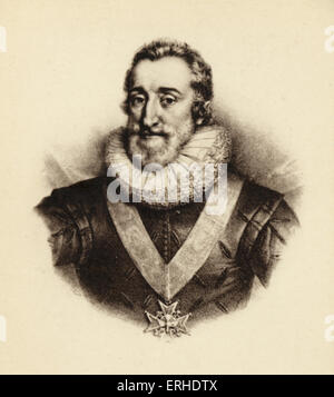 HENRY IV - King of France. Reigned 1593-1610 b. 1553 - d. 1610 - Stock Photo