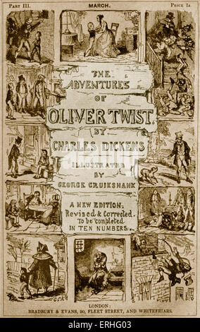 The Adventures of Oliver Twist by Charles Dickens' - 'A new edition revised and corrected. To be completed in ten - Stock Photo