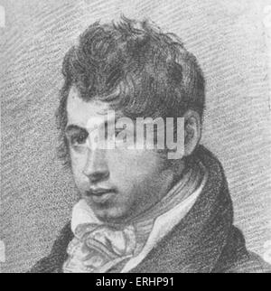 Leigh Hunt - English poet and drama critic. 19 October 1784 - 28 August 1859. - Stock Photo