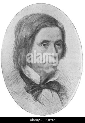 Leigh Hunt - age 66. English poet and drama critic. 19 October 1784 - 28 August 1859. - Stock Photo