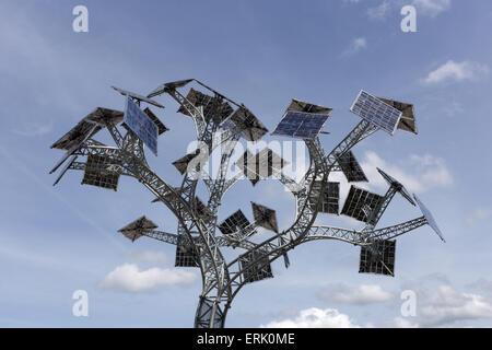 The Energy Tree A Solar Panel Art Installation On Bristol
