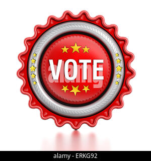 Vote stamp isolated on white background. - Stock Photo