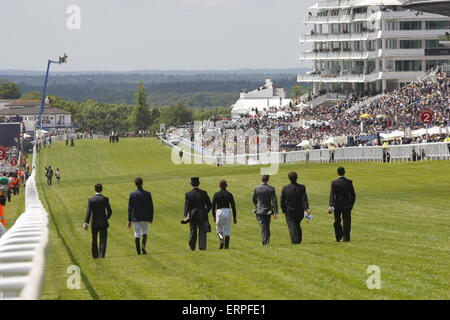 Epsom Downs, Surrey, UK -  6th June, 2015  at The Derby - Stock Photo