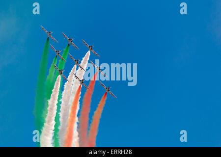 tricolors arrows of republic day - Stock Photo