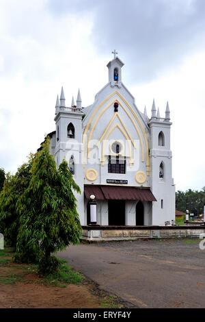 Old church ; Chandor near  Margao ; South Goa ; Goa ; India - Stock Photo