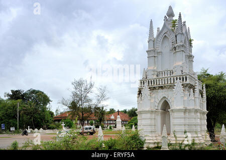 Old church ; Chandor near Margaon ; South Goa ; Goa ; India - Stock Photo