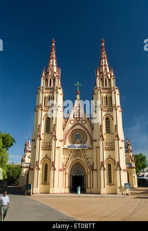 Saint Mary cathedral constructed in 1916 ; Madurai ; Tamil Nadu ; India - Stock Photo