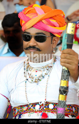 Portrait of a man ; Rajasthan ; India Mr#786 - Stock Photo