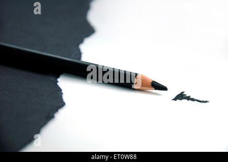 Kajal pencil on black and white background  India Asia - Stock Photo