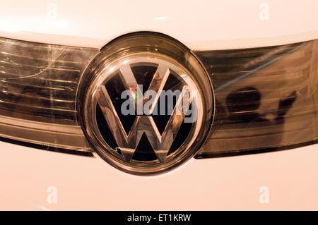 Emblem of Volkswagen car Pune Maharashtra India Asia - Stock Photo