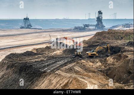 Germany, North Rhine-Westphalia, Borschemich, Garzweiler II surface mine - Stock Photo