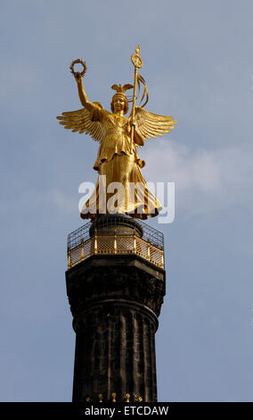 APRIL 2008 - BERLIN: the Siegessaeule (Victory Column), Berlin-Tiergarten. - Stock Photo