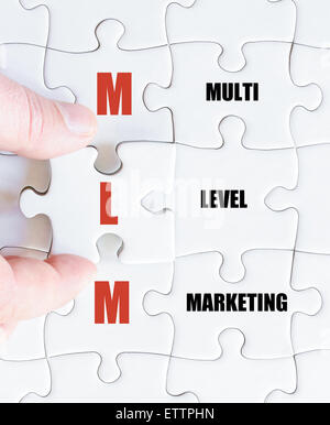 Concept image of Business Acronym MLM as Multi Level Marketing - Stock Photo
