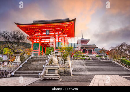 Kyoto, Japan at Kiyomizu Temple in the morning. - Stock Photo