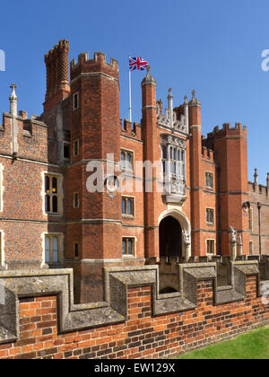 Hampton Court Palace a royal palace in the London Borough of Richmond upon Thames Greater London Surrey UK - Stock Photo