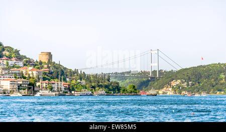 Europa´s castle on Bosporus. This castle is on the european side of the Bosporus. - Stock Photo