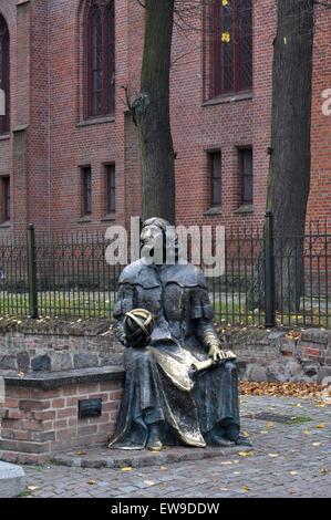 Nicholas Copernicus Monument, Castle Museum of Bishop's Castle, Olsztyn, Poland, Europe - Stock Photo