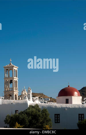 Griechenland, Kykladen, Mykonos, Ano Mera, Kloster Panagia Tourliani - Stock Photo