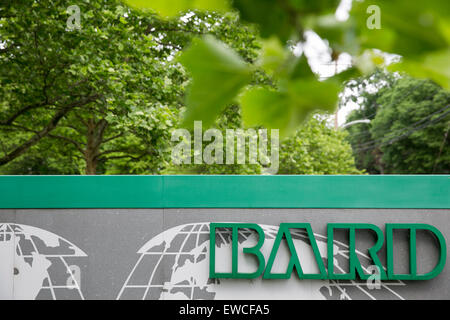 A logo sign outside of the headquarters of C. R. Bard, Inc., in New Providence, New Jersey. - Stock Photo