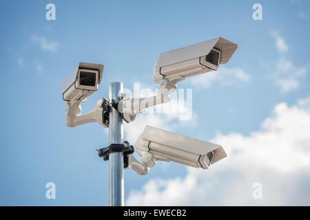 Security cctv surveillance camera - Stock Photo
