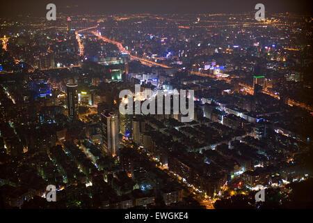 View of Taipei from the 88th floor of Taipei 101. - Stock Photo
