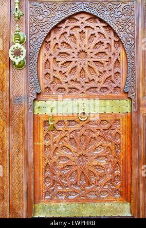 Ornamental door, Morocco, Africa - Stock Photo