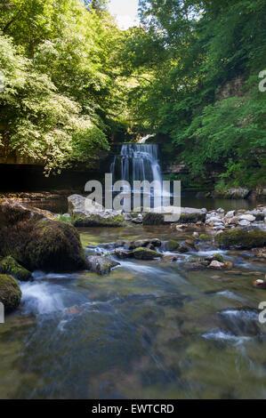 Cauldron Falls at West Burton, Wensleydale, Yorkshire Dales National Park. - Stock Photo