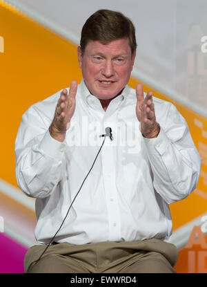 Aspen, Colorado, USA. 01st July, 2015. Chairman, President and CEO of the Southern Company, TOM FANNING, speaks - Stock Photo
