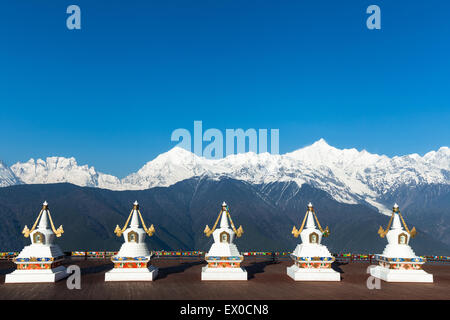 Meili snow mountain in yunnan china - Stock Photo
