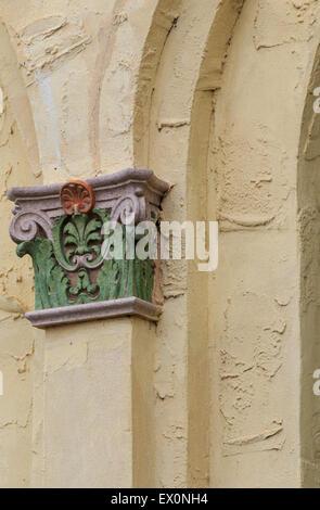 Architectural detail on Oklahoma City's historic Public Market. - Stock Photo