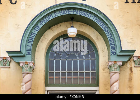 Doorway arch above the main entrance to Oklahoma City's historic Public Market. - Stock Photo