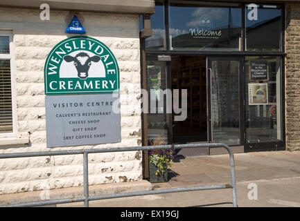 Wensleydale Creamery cheese factory visitor centre, Hawes, Yorkshire Dales national park, England, UK - Stock Photo