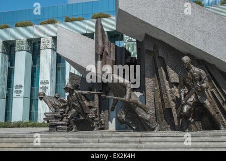 1944 Warsaw Uprising Monument,ouside the Supreme Court building,  Krasiński Square, Warsaw, Poland - Stock Photo