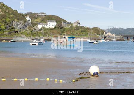 Fishing Village Barmouth Beach wales - Stock Photo