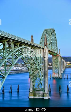 Yaquina Bay Bridge, Newport, Oregon USA - Stock Photo