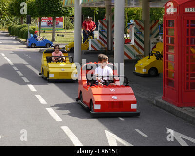 The Lego City Driving School at Legoland Windsor, England - Stock Photo