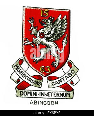 Emblem for Abingdon School, Abingdon, Oxfordshire is a British day and boarding independent school for boys. It - Stock Photo
