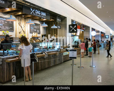 Hudson Eats at Brookfield Place in Battery Park City, NYC, USA - Stock Photo