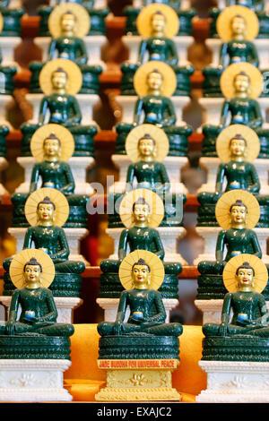Jade Buddha for universal peace, Tu An Buddhist Temple, Saint-Pierre-en-Faucigny, Haute Savoie, France, Europe - Stock Photo