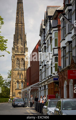 Pictures around Southport   Pictured St George's Church is in Lord Street, Southport, Sefton, Merseyside, England, - Stock Photo