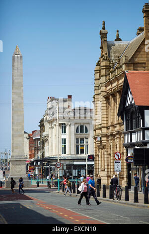 Pictures around Southport   Pictured War Memorial on  Lord Street Southport, in Merseyside.   The obelisk is 67 - Stock Photo