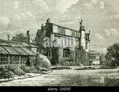 This illustration from John Forster's The Life of Charles Dickens shows the house and conservatory at Gadshill from - Stock Photo