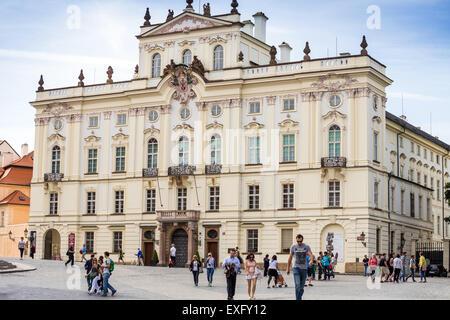 The Archbishop s Palace Hradcanske Square Prague, Czech Republic,  Arcibiskupsky palac,  Hradcanske namesti - Stock Photo