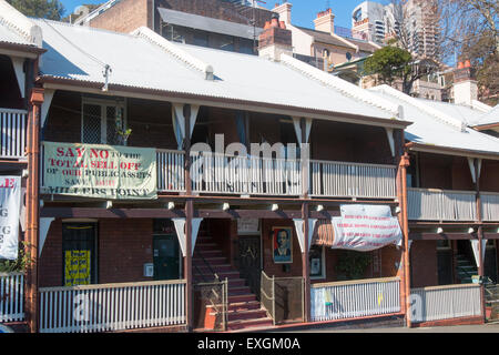 Sydney, Australia.14th July, 2015. The New South Wales Government is underway with its sell off of public housing - Stock Photo