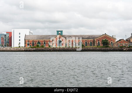 Thompson Pump House, Belfast, built to pump out the world's largest dry dock in 1910. - Stock Photo