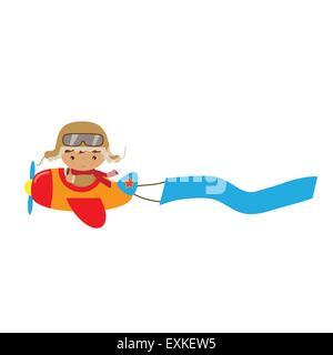 plane,airplane,pilot,aviator,boy,cute,funny,cartoon,illustration,isolated,vector - Stock Photo