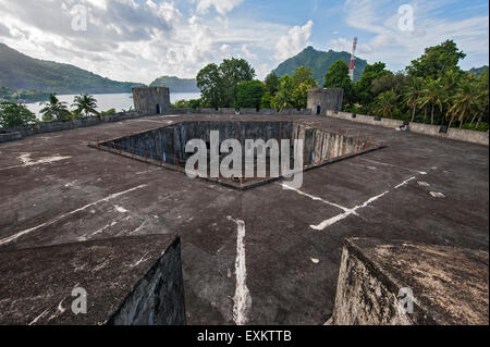 Fort Belgica, Banda Neira, Banda, Maluku Islands, Indonesia - Stock Photo
