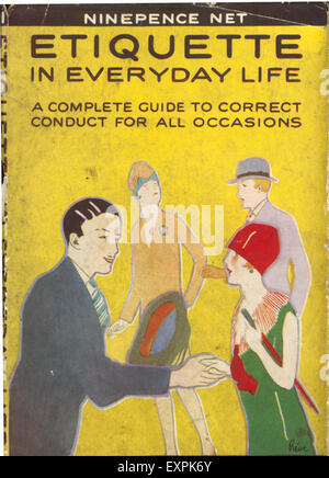 1930s UK Etiquette in Everyday Life Book Cover - Stock Photo