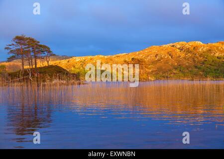 Loch Druim Suardalain, Assynt, Scotland, Great Britain, Europe - Stock Photo