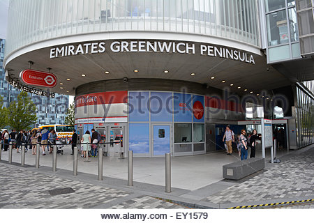 Emirates Air Line in Greenwich, London, UK - Stock Photo